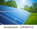 solar panel in outdoor solar... | Shutterstock . vector #139356713