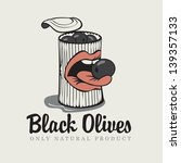 conserve of black olives and... | Shutterstock .eps vector #139357133