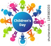 childrens day concept. cute... | Shutterstock .eps vector #139380203