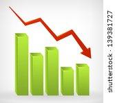 business down shiny chart width ... | Shutterstock .eps vector #139381727
