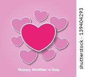 happy mothersday mldpink... | Shutterstock .eps vector #139404293