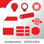 red stickers  tags  labels... | Shutterstock .eps vector #139421963