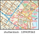 atlas,city,downtown,french quarter,geography,graphic,highways,illustration,image,louisiana,map,new orleans,roads,streets,travel