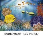 underwater wallpaper with...