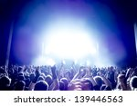 cheering crowd in front of... | Shutterstock . vector #139446563