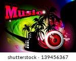 music background with speaker | Shutterstock .eps vector #139456367