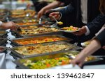 people group catering buffet... | Shutterstock . vector #139462847