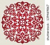 round ornament in victorian...   Shutterstock .eps vector #139469867