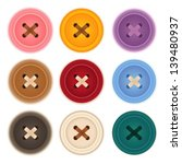 clothes buttons collection  ... | Shutterstock .eps vector #139480937