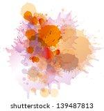 grunge colorful paint splashes...   Shutterstock .eps vector #139487813