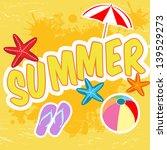 summer tropical poster in retro ... | Shutterstock .eps vector #139529273