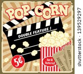 popcorn with clapper board and... | Shutterstock .eps vector #139529297