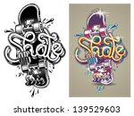 vector illustration of a skate... | Shutterstock .eps vector #139529603