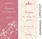 beautiful floral invitation... | Shutterstock .eps vector #139537217