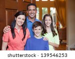 hispanic father  caucasian... | Shutterstock . vector #139546253