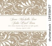 invitation or wedding card with ... | Shutterstock .eps vector #139558457