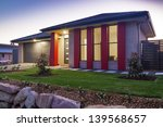new australian townhouse front...   Shutterstock . vector #139568657