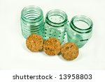 Three Spice Jars - stock photo