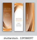 Abstract Vector Banners. Set of Three.