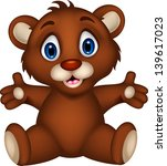 cute baby brown bear cartoon... | Shutterstock .eps vector #139617023