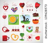 love and food icons set  ... | Shutterstock .eps vector #139628573