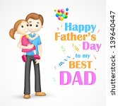 illustration of father holding... | Shutterstock .eps vector #139640447