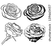 a set of roses isolated on...   Shutterstock .eps vector #139665457