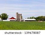 American Farmland With Blue...