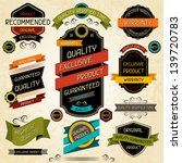 set of premium quality labels... | Shutterstock .eps vector #139720783