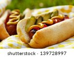 Grilled Hot Dogs With Mustard ...