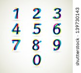numbers set of cmyk color style.... | Shutterstock .eps vector #139730143