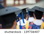 back of graduates during... | Shutterstock . vector #139736407