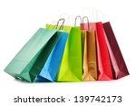 paper shopping bags isolated on ... | Shutterstock . vector #139742173
