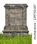 headstone monument in grass... | Shutterstock . vector #139743187