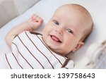 Cute Newborn Baby Smiling...