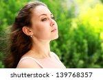 portrait of a beautiful brown...   Shutterstock . vector #139768357