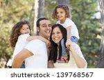 happy hispanic people parents... | Shutterstock . vector #139768567