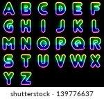 Alphabet Set Made Out Of...