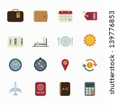vacation icons and travel icons ... | Shutterstock .eps vector #139776853