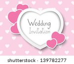 wedding invitation with place... | Shutterstock .eps vector #139782277
