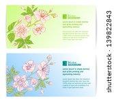two sakura banners. vector... | Shutterstock .eps vector #139822843