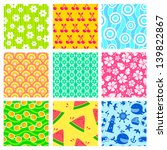 set of colorful seamless... | Shutterstock .eps vector #139822867