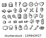 hand drawn icons | Shutterstock .eps vector #139843927