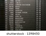 A flight information panel taken at the Frankfurt Airport. - stock photo