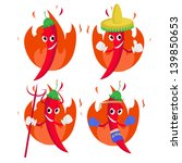 chili pepper cartoon | Shutterstock .eps vector #139850653