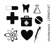 healthy icons monochrome over... | Shutterstock .eps vector #139865167