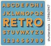 Retro Type Font  Vintage...