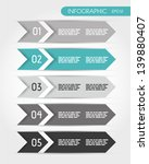 turquoise five infographic... | Shutterstock .eps vector #139880407