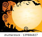 halloween background   gnarled... | Shutterstock . vector #139886827
