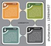 vector infographic background...   Shutterstock .eps vector #139894957